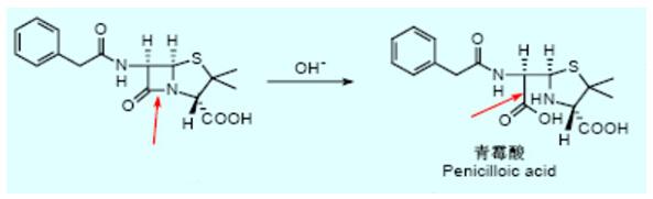 2.氧化 氧化也是药物降解的主要途径之一。失去电子为氧化,脱氢也为氧化。药物氧化分解通常是自氧化过程,即在大气中氧的影响下进行缓慢的氧化。药物的氧化过程与化学结构有关,如酚类、烯醇类、芳胺类、吡唑酮类、噻嗪类药物较易氧化。药物氧化后,不仅效价损失,而且可能产生颜色或沉淀。有些药物即使被氧化极少量,亦会色泽变深或产生不良气味,严重影响药品的质量。 3.